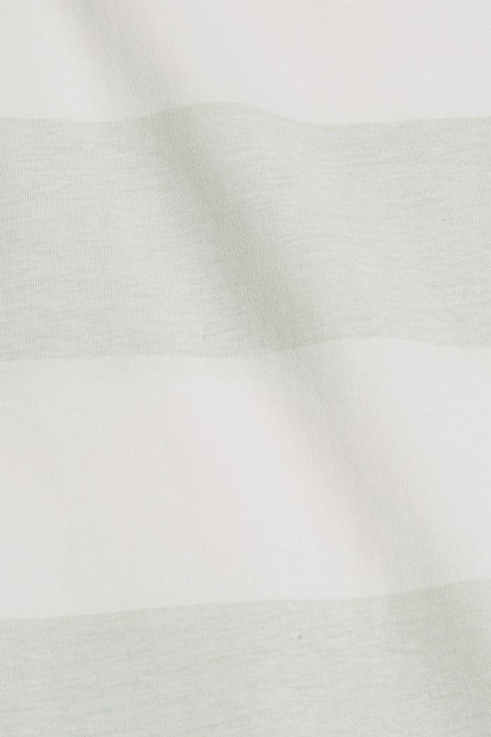 T-shirt with block stripes, 100% organic cotton, PASTEL GREEN, detail image number 4