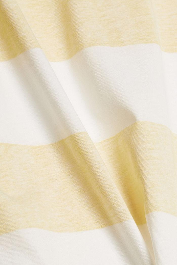 T-Shirt mit Blockstreifen, 100% Organic Cotton, LIGHT YELLOW, detail image number 4