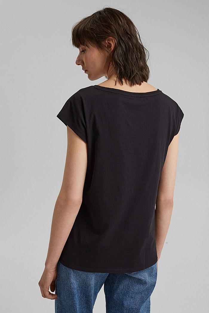 Painokuvioitu T-paita 100 % luomupuuvillaa, BLACK, detail image number 3
