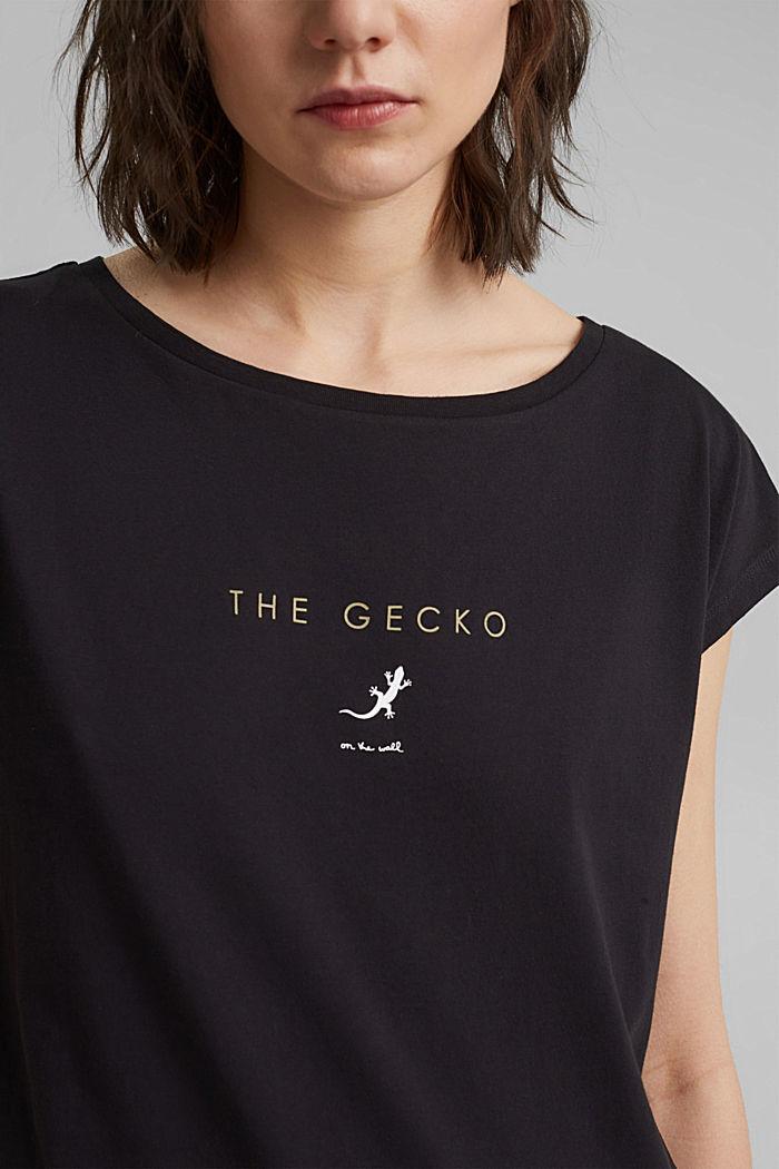 Painokuvioitu T-paita 100 % luomupuuvillaa, BLACK, detail image number 2