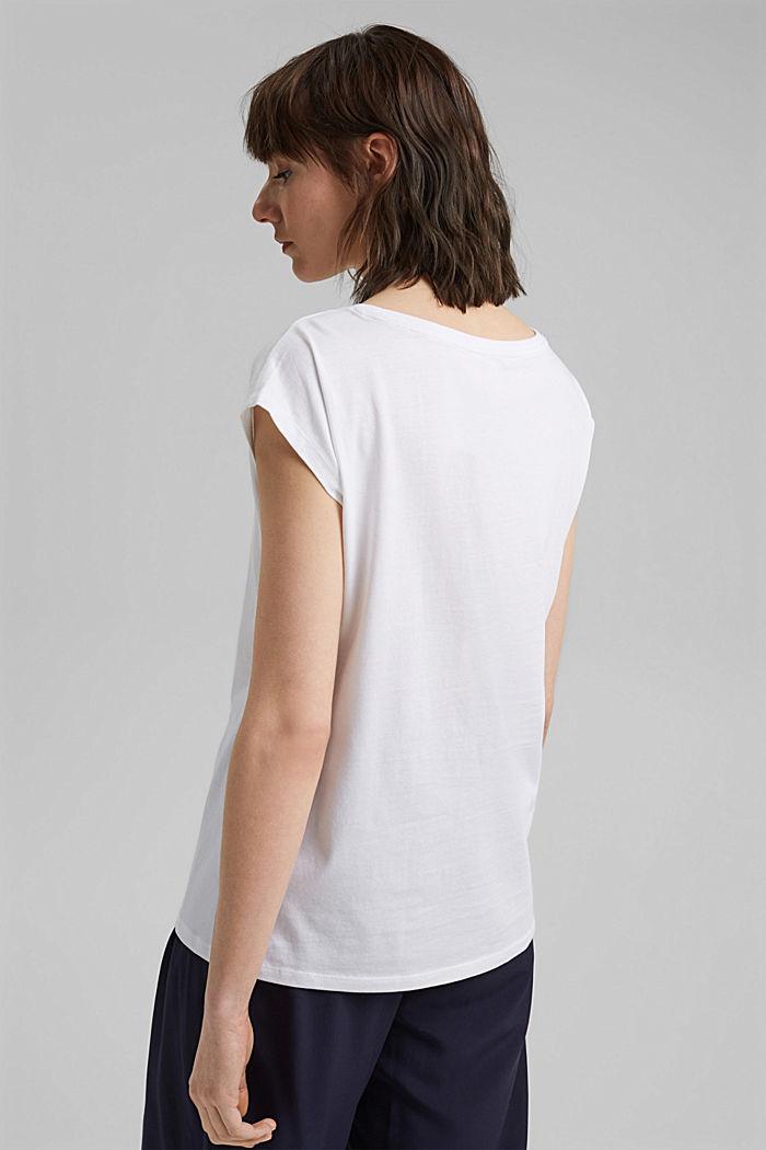 Camiseta con estampado en 100% algodón ecológico, WHITE, detail image number 3