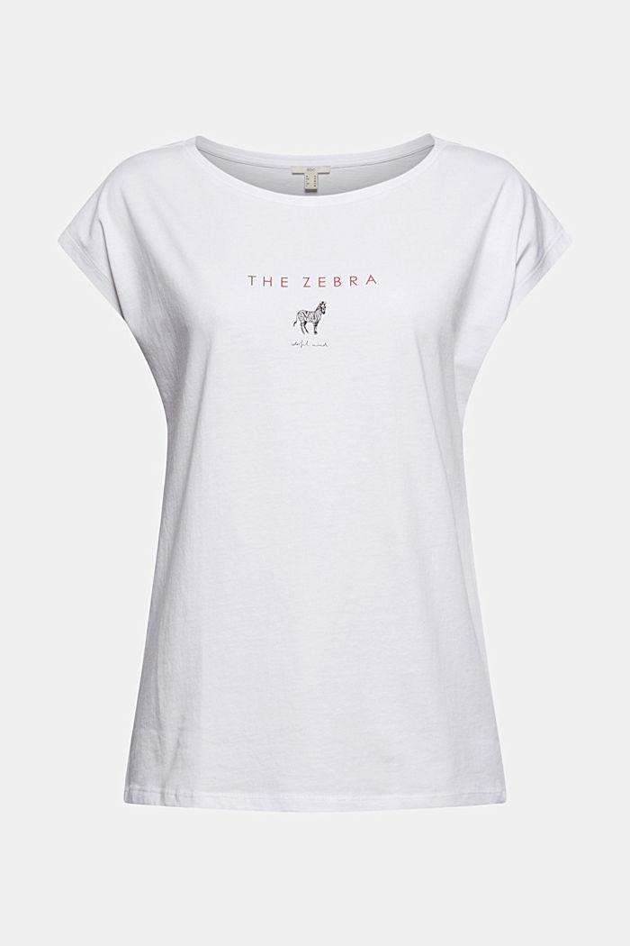 Camiseta con estampado en 100% algodón ecológico, WHITE, detail image number 6