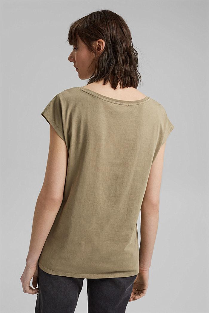 Tričko s potiskem, ze 100% bavlny, LIGHT KHAKI, detail image number 3