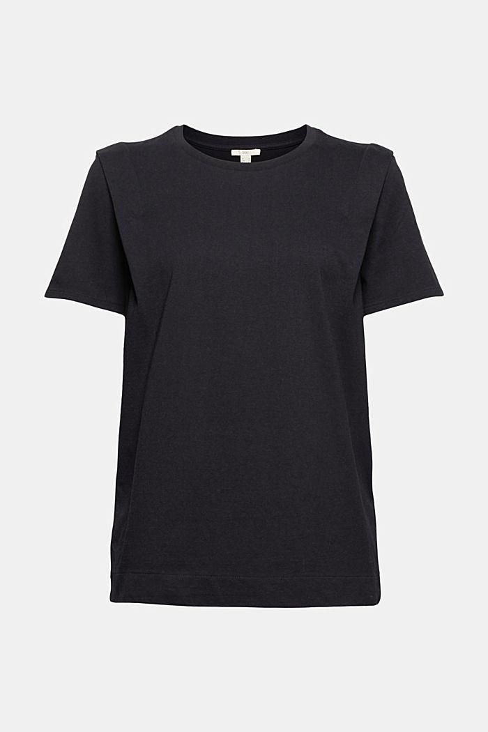 T-Shirt mit Falten-Details, Bio-Baumwolle, BLACK, detail image number 6
