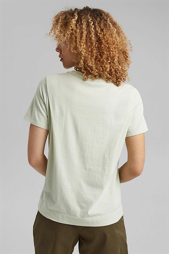 Tričko s detaily skladů, bio bavlna, PASTEL GREEN, detail image number 3
