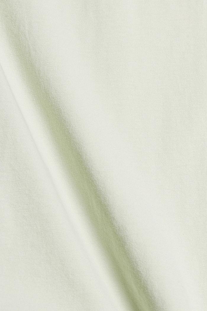 Tričko s detaily skladů, bio bavlna, PASTEL GREEN, detail image number 4