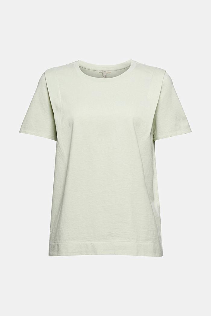 Tričko s detaily skladů, bio bavlna, PASTEL GREEN, detail image number 5