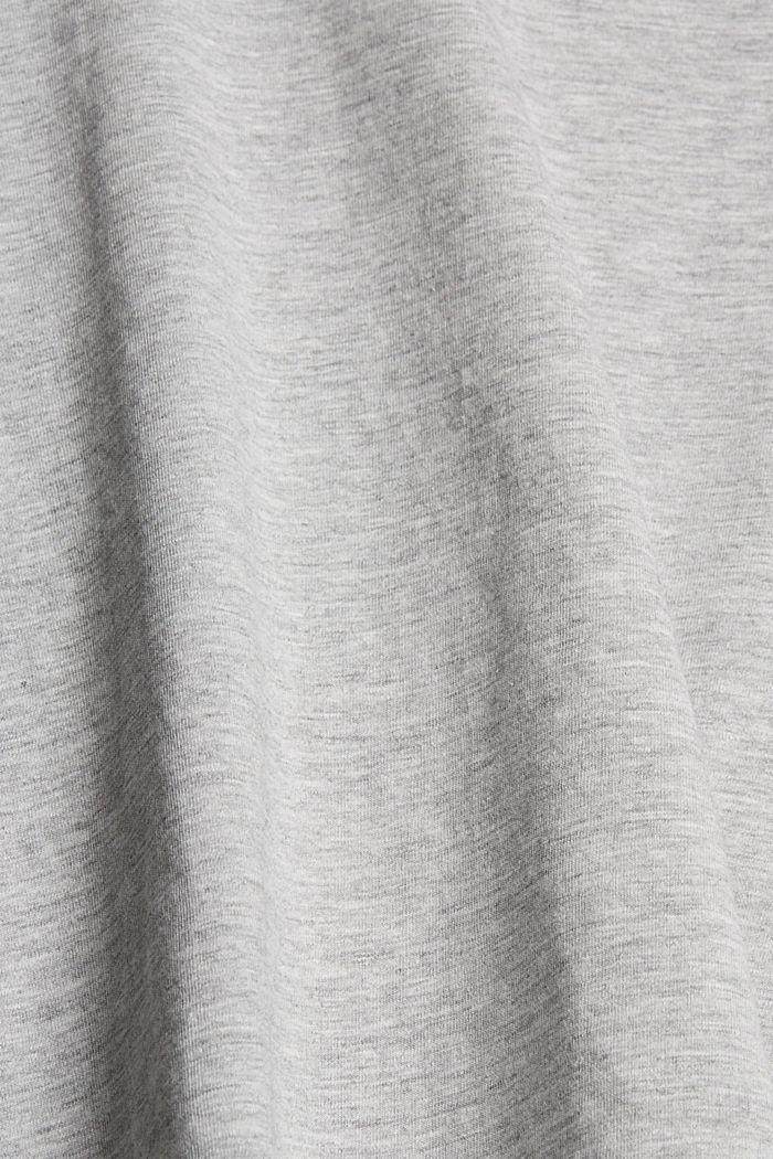 Luomupuuvillainen T-paita, jossa metallinhohtoinen painatus, LIGHT GREY, detail image number 4