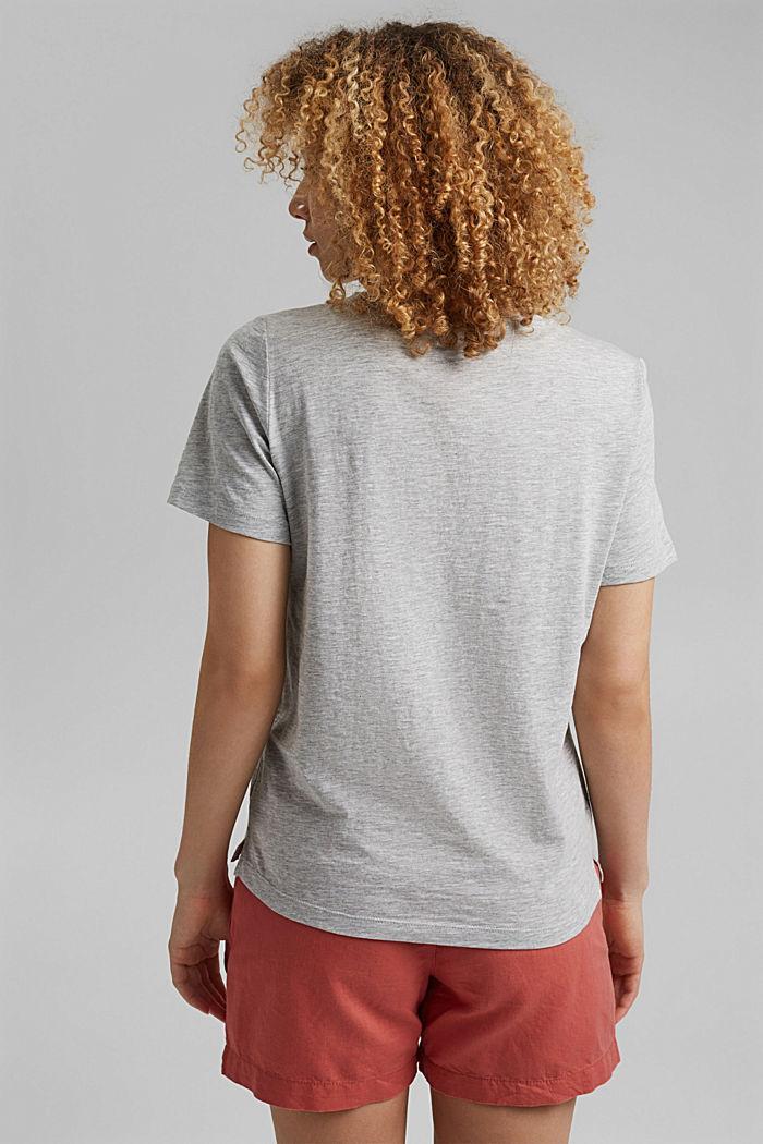 T-shirt orné d´un imprimé, coton biologique, LIGHT GREY, detail image number 3