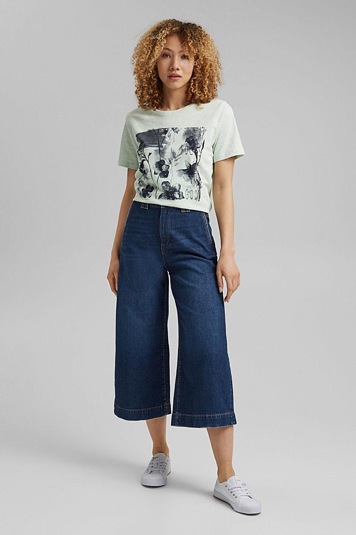 Printed T-shirt, 100% organic cotton, PASTEL GREEN, detail image number 1