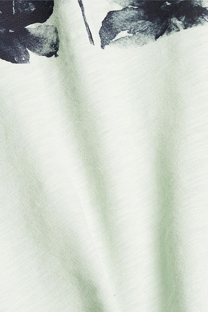 Printed T-shirt, 100% organic cotton, PASTEL GREEN, detail image number 4