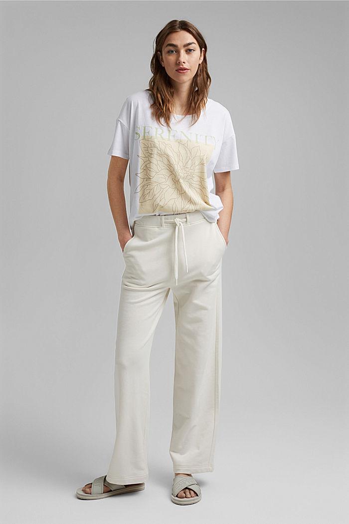 T-Shirt mit Print, 100% Organic Cotton, WHITE, detail image number 1