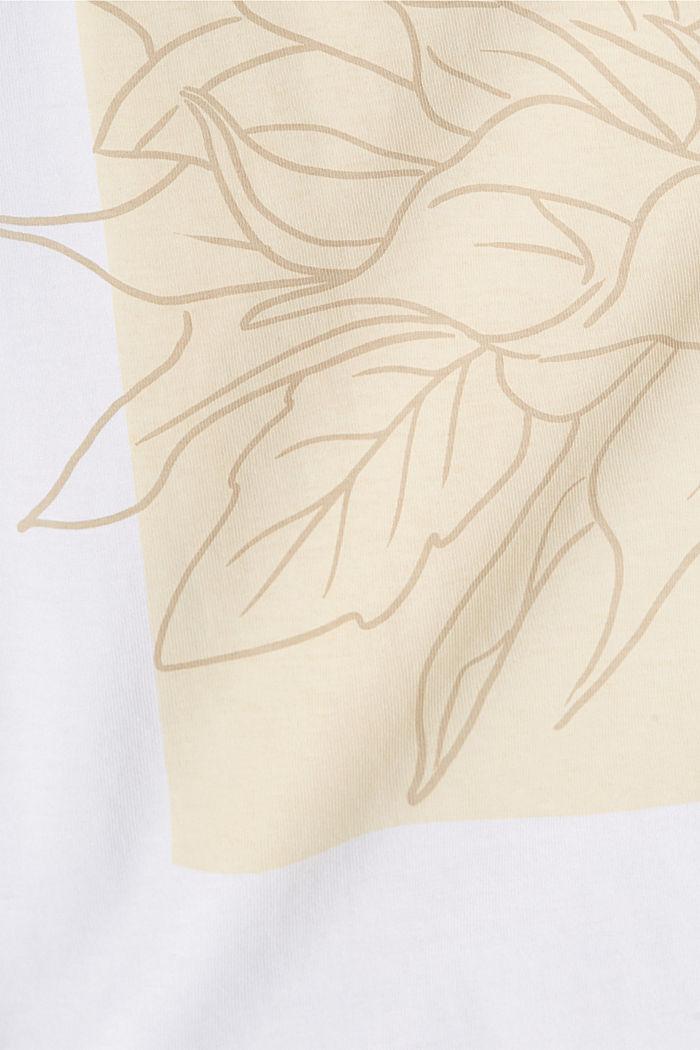 T-Shirt mit Print, 100% Organic Cotton, WHITE, detail image number 4