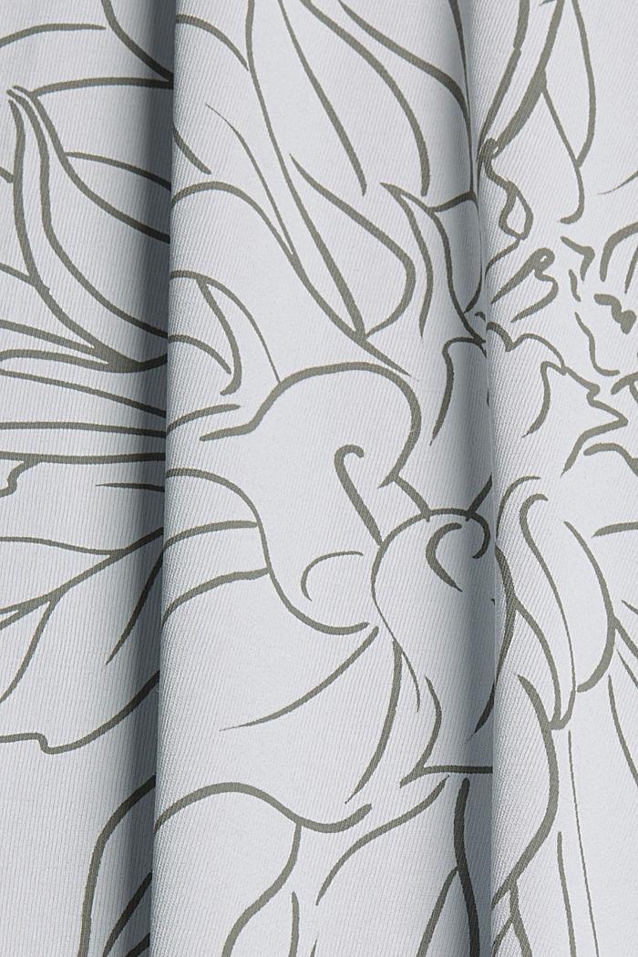 T-Shirt mit Print, 100% Organic Cotton, LIGHT BLUE LAVENDER, detail image number 4