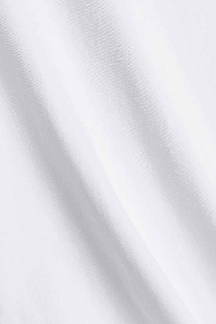T-Shirt mit Blumenprint, 100% Bio-Baumwolle, WHITE, detail image number 4