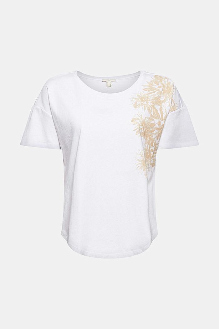 T-Shirt mit Blumenprint, 100% Bio-Baumwolle, WHITE, detail image number 5