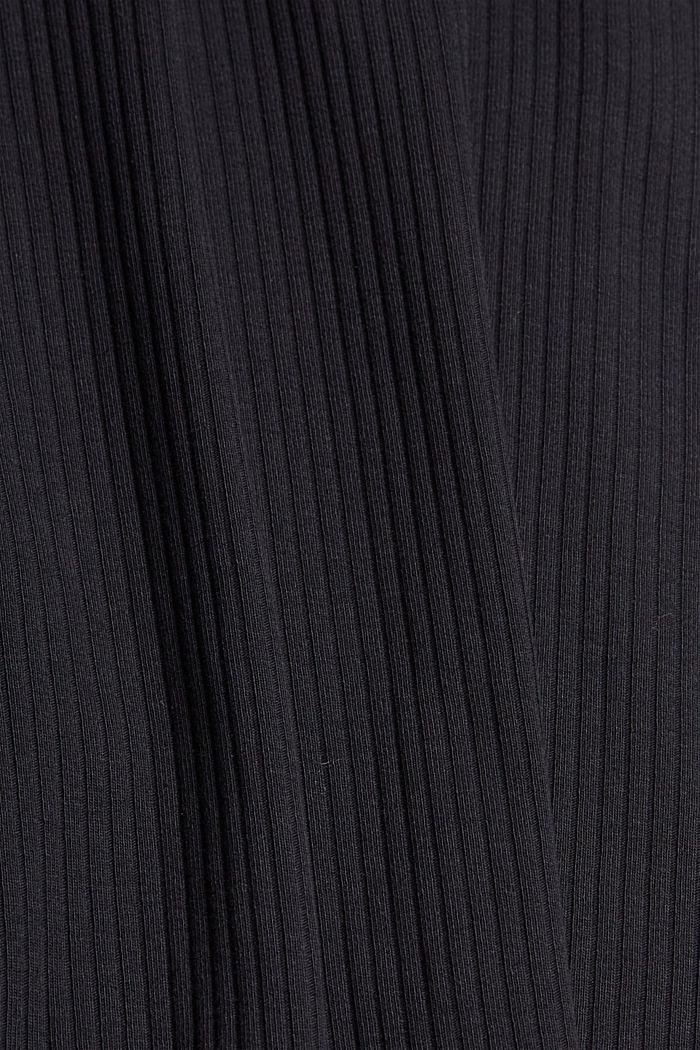 Ripp-Top mit Stehkragen, Organic Cotton, BLACK, detail image number 4