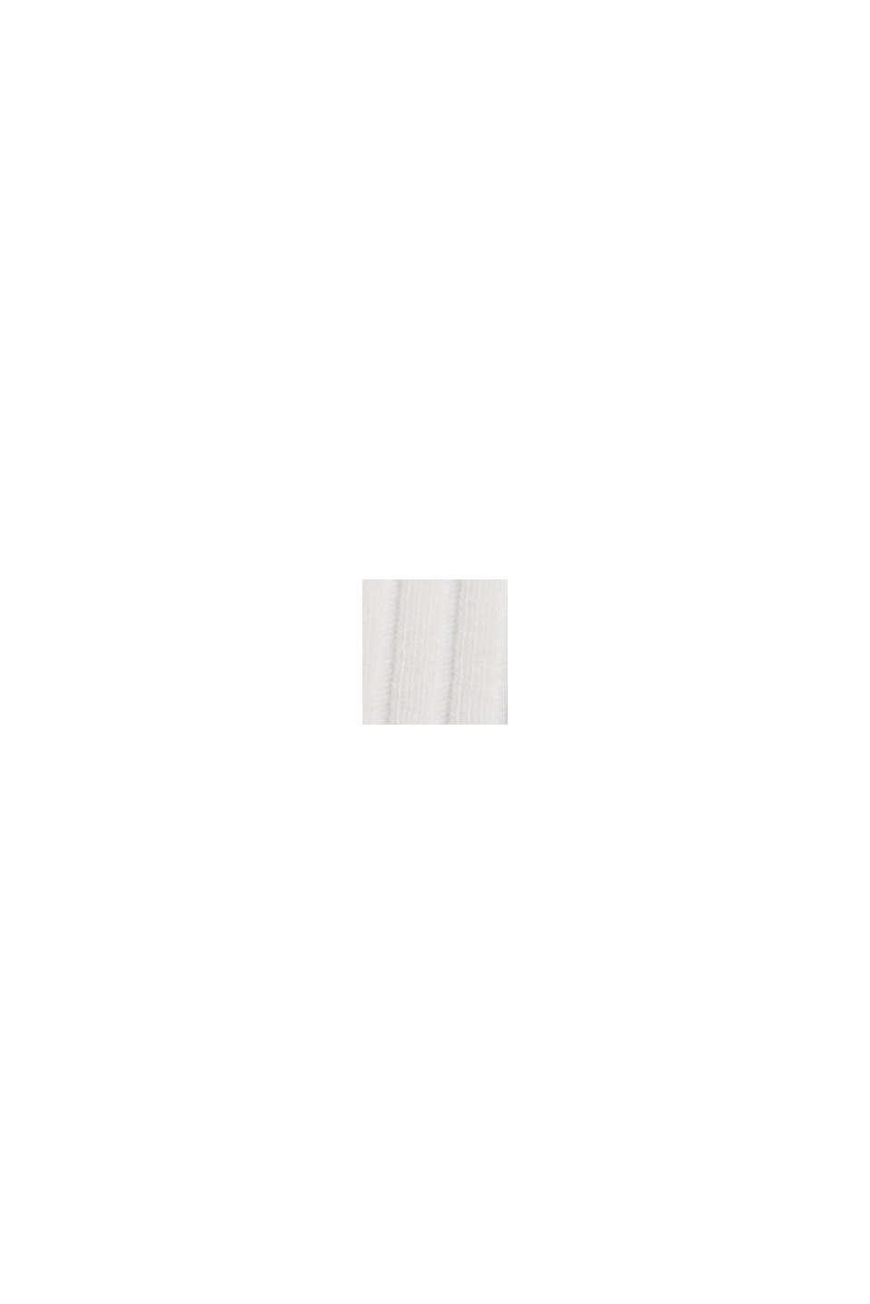 Geribde top met opstaande kraag, biologisch katoen, OFF WHITE, swatch