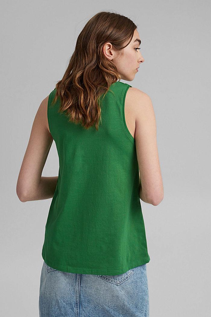 Jersey top met gehaakte kant, biologisch katoen, GREEN, detail image number 3