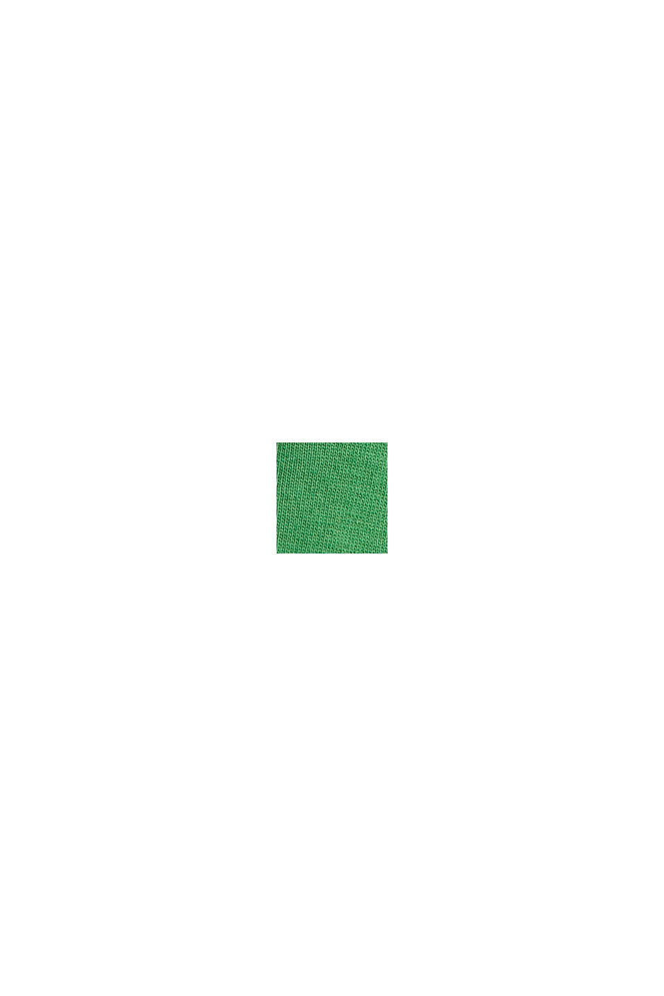 Jersey-Top mit Häkelspitze, Organic Cotton, GREEN, swatch