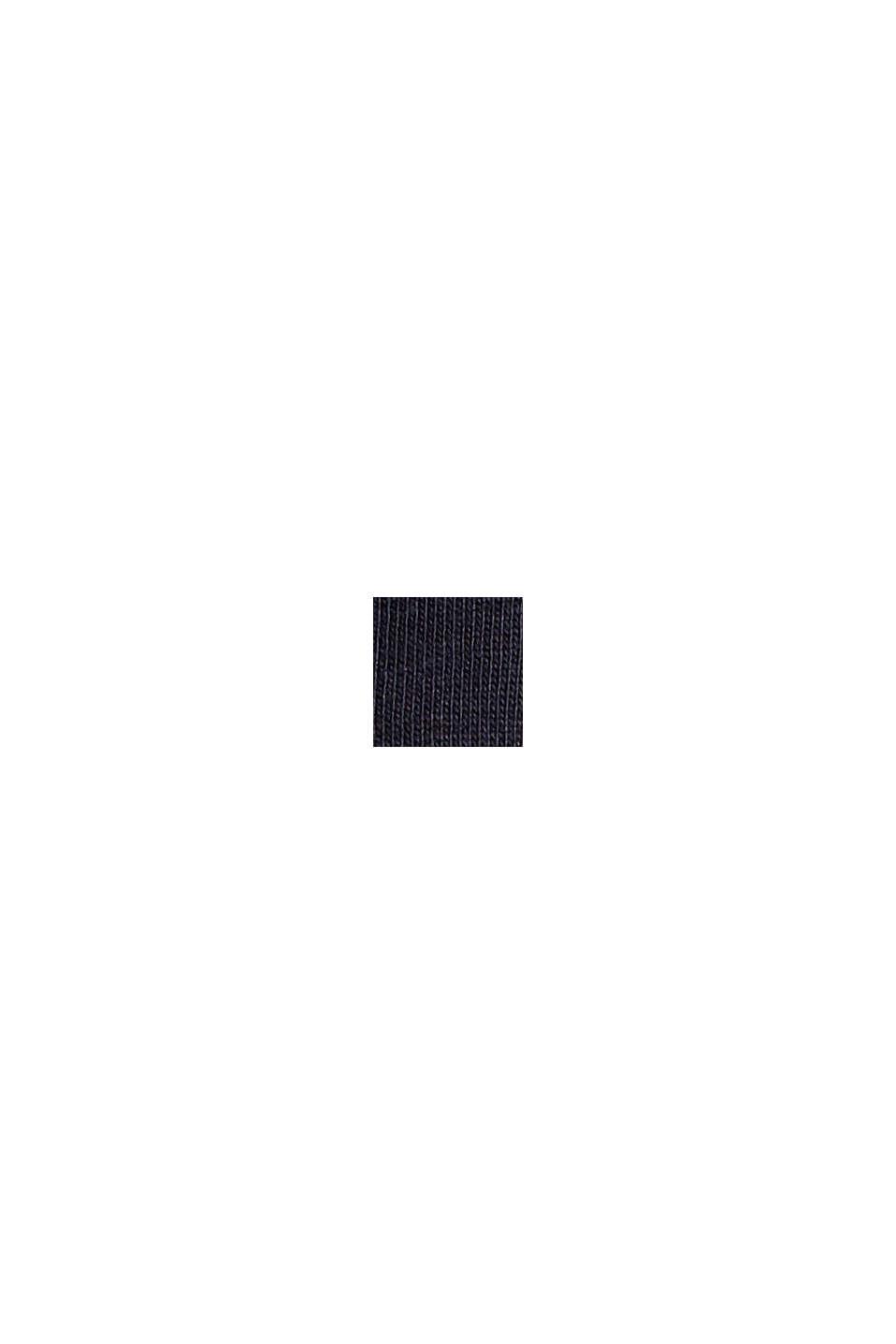 Jersey-Top mit Häkelspitze, Organic Cotton, NAVY, swatch