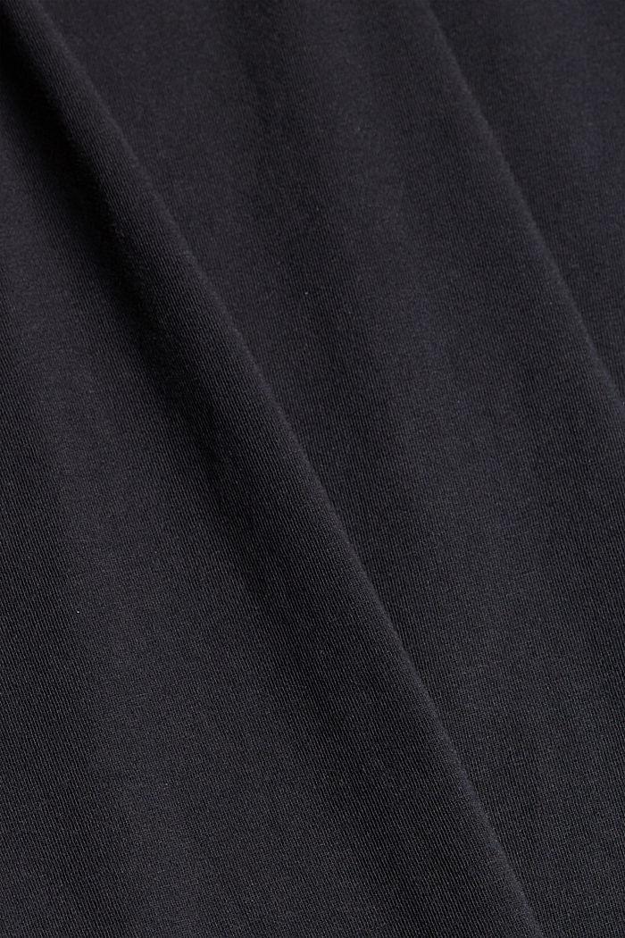Tričko s pásky, 100% bio bavlna, BLACK, detail image number 4