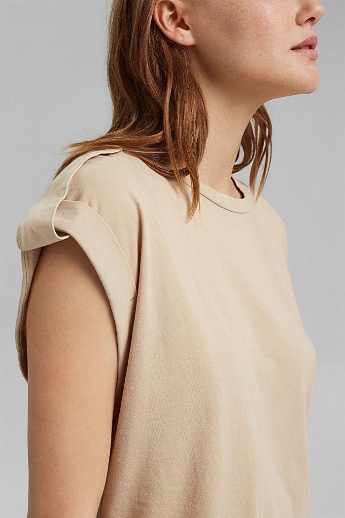 Strap detail top, 100% organic cotton, SAND, detail image number 2