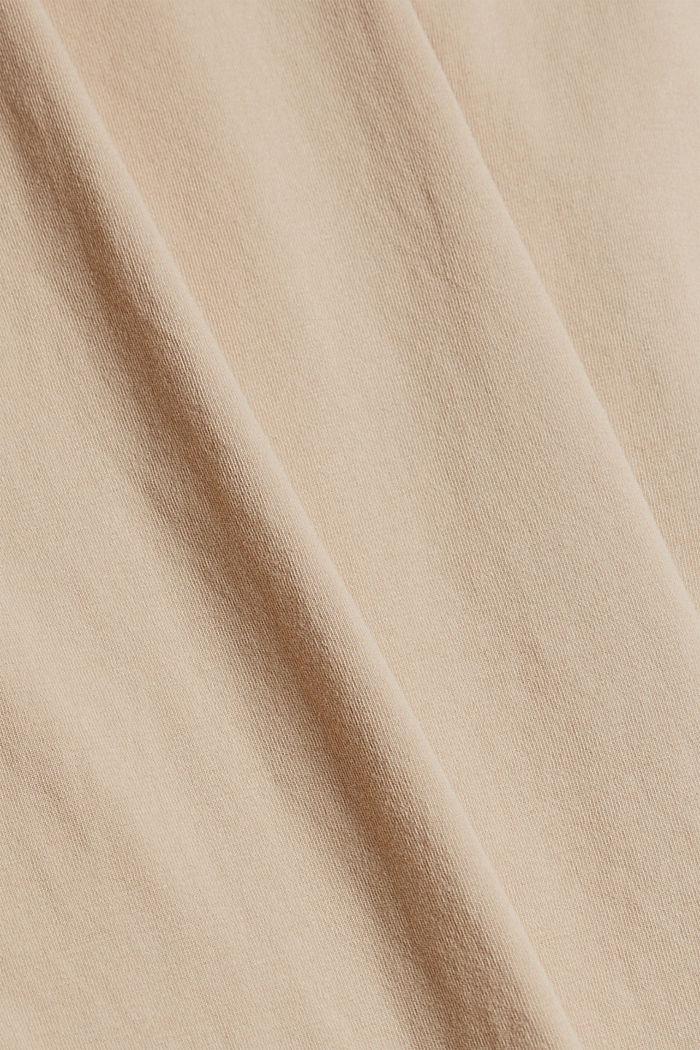 Strap detail top, 100% organic cotton, SAND, detail image number 4