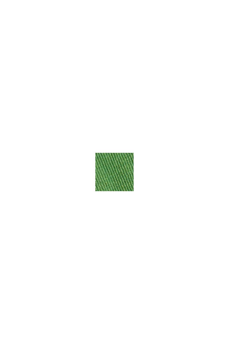 Shirt mit Riegel-Details, 100% Bio-Baumwolle, GREEN, swatch