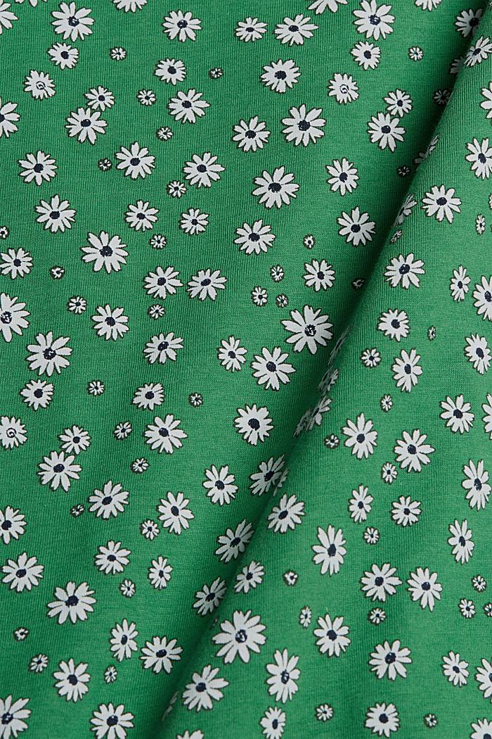 Millefleurs-toppi, 100 % luomupuuvillaa, GREEN, detail image number 4
