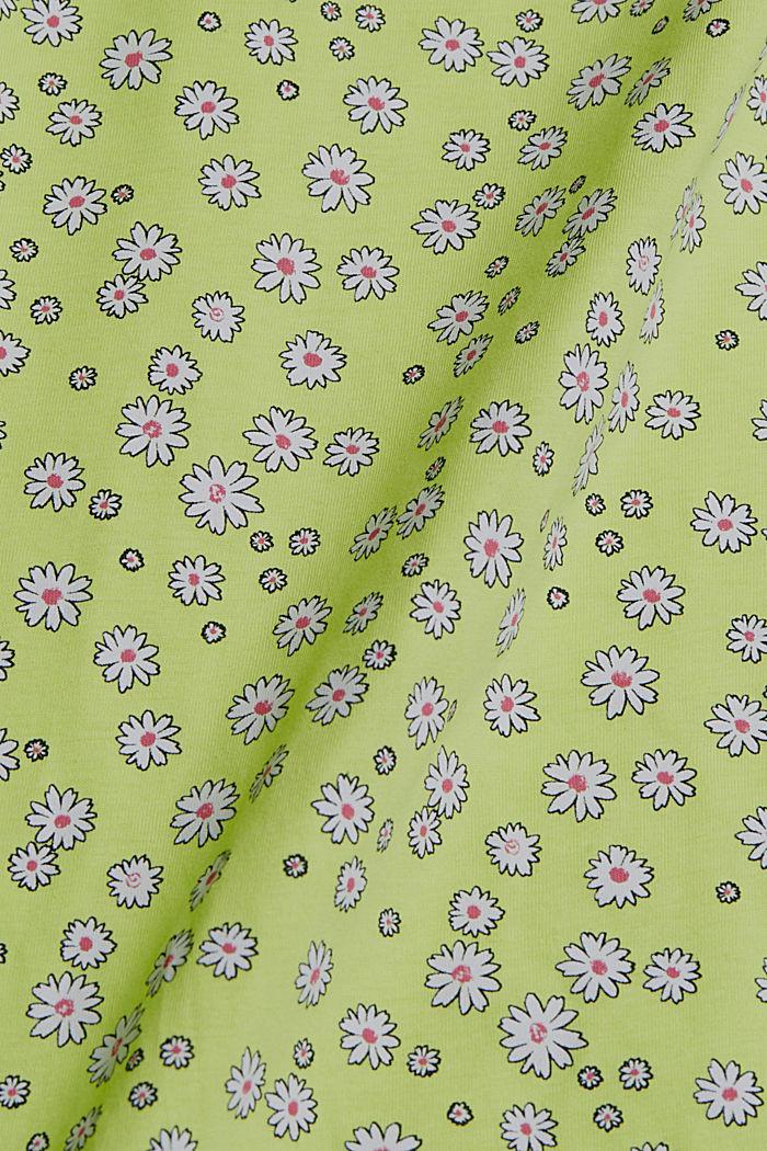 Mille-fleurs vest, 100% organic cotton, LIME YELLOW, detail image number 4