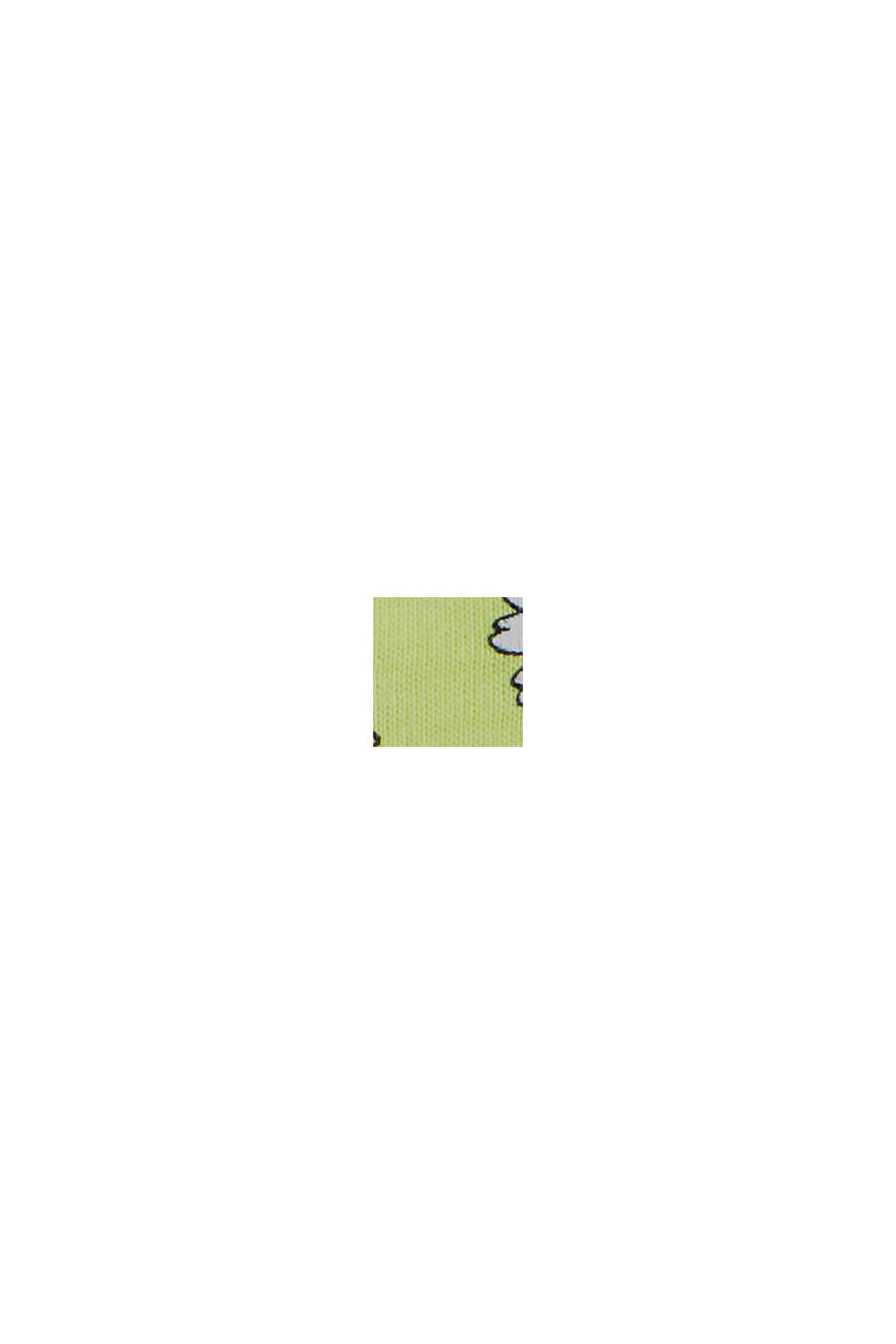 Millefleurs-tanktop, 100% biologisch katoen, LIME YELLOW, swatch