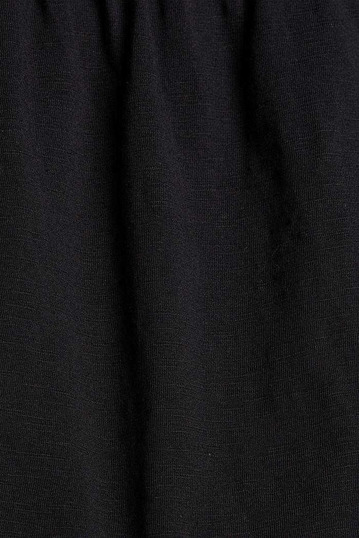 Jersey-Jumpsuit aus 100% Bio-Baumwolle, BLACK, detail image number 4