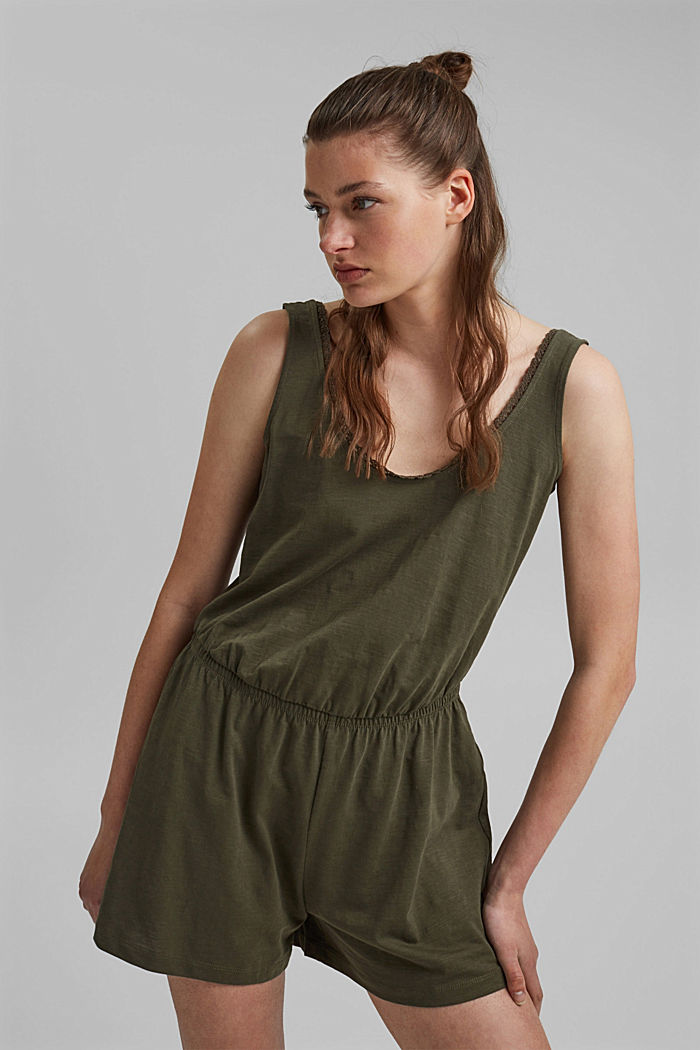 Jersey jumpsuit made of 100% organic cotton