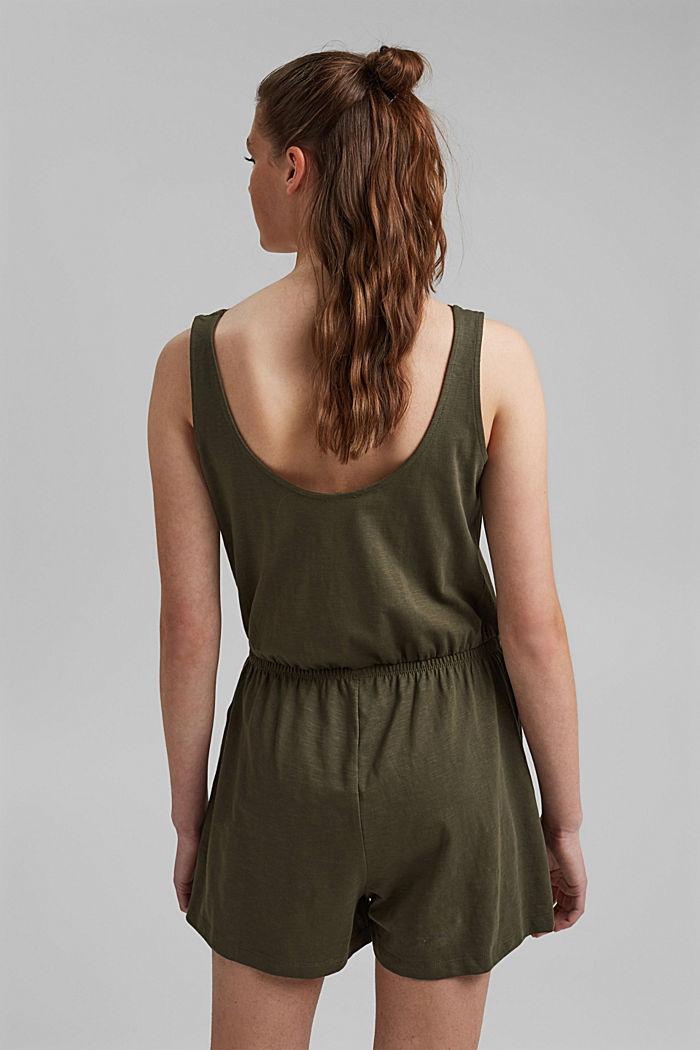 Jersey-Jumpsuit aus 100% Bio-Baumwolle, KHAKI GREEN, detail image number 2