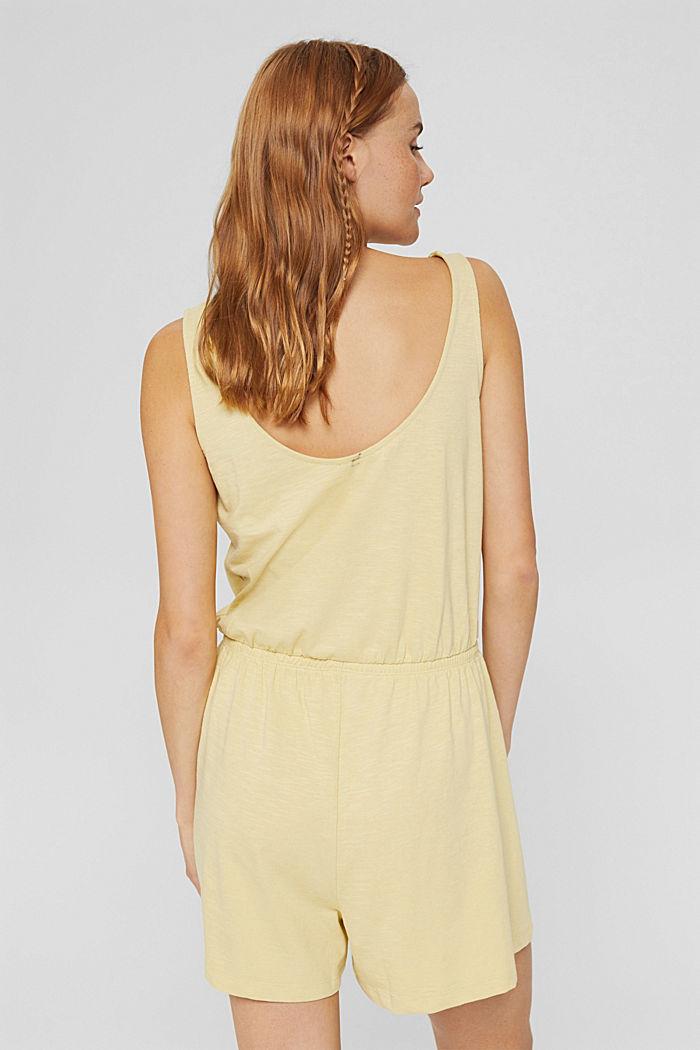 Jersey-Jumpsuit aus 100% Bio-Baumwolle, LIGHT YELLOW, detail image number 2