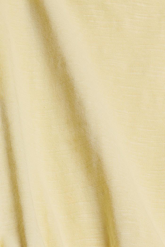 Jersey-Jumpsuit aus 100% Bio-Baumwolle, LIGHT YELLOW, detail image number 4