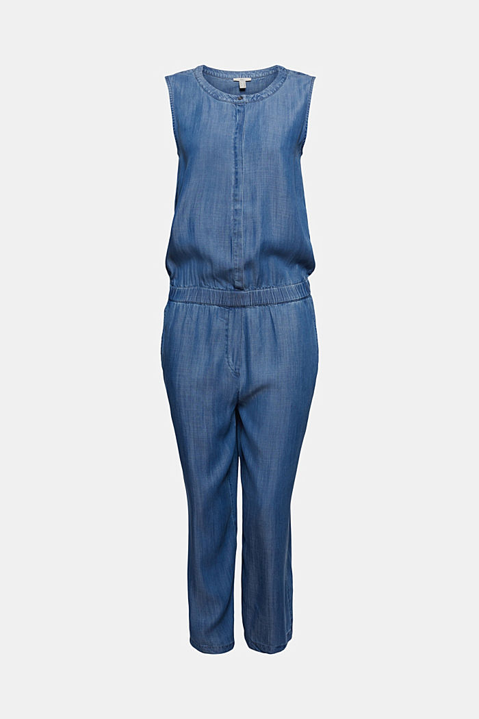 Made of TENCEL™: denim jumpsuit in a 2-in-1 look