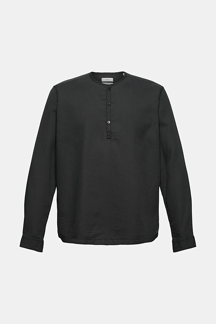 Shirt with Henley neckline