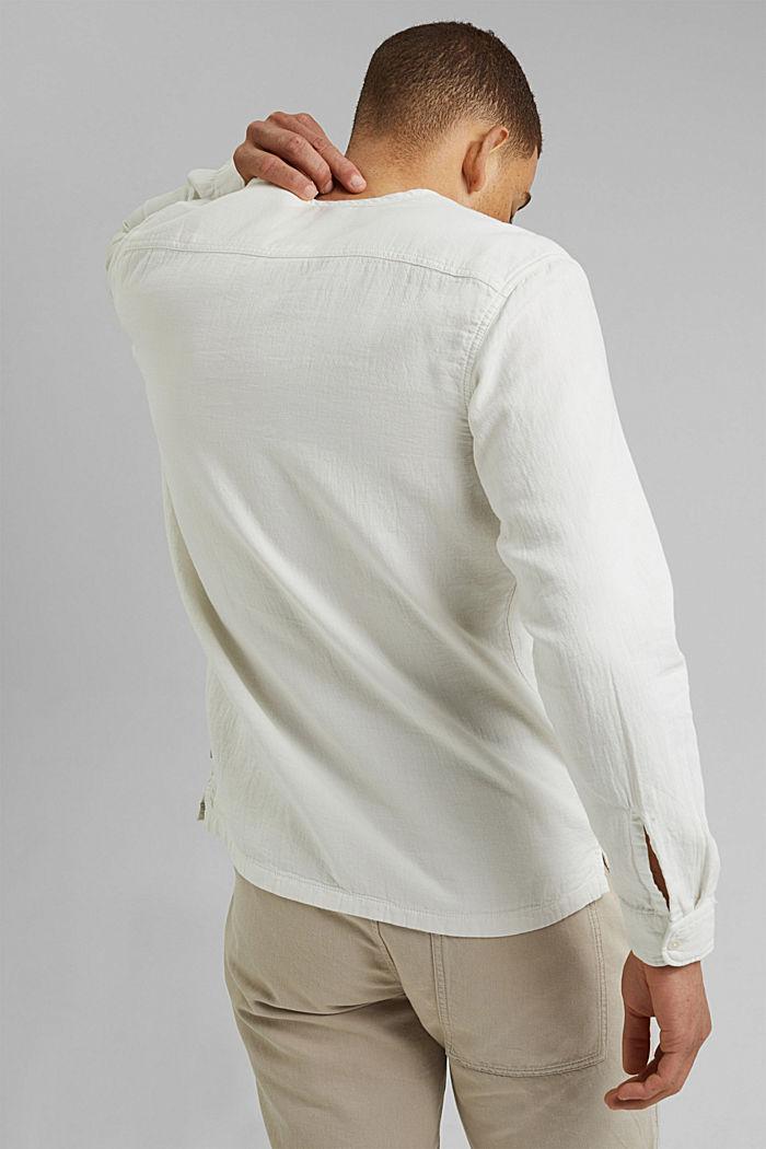 Košile s henley výstřihem, OFF WHITE, detail image number 3