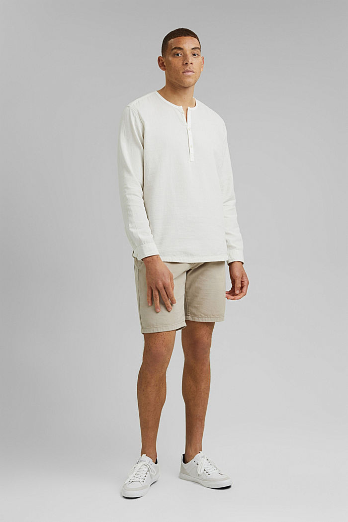 Košile s henley výstřihem, OFF WHITE, detail image number 1