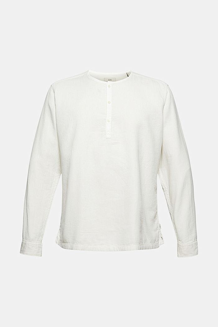 Overhemd met henley-hals