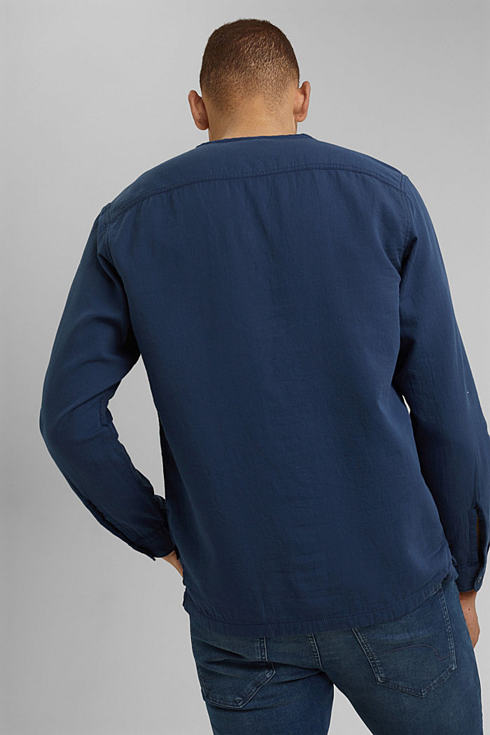 Shirt with Henley neckline, NAVY, detail image number 3