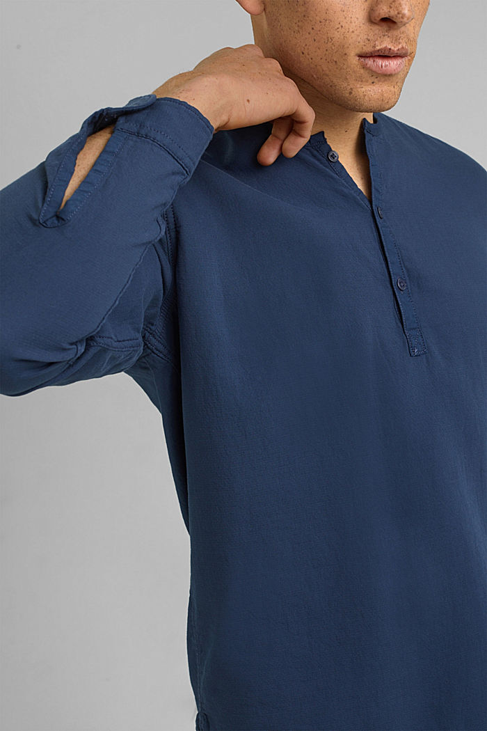 Shirt with Henley neckline, NAVY, detail image number 2