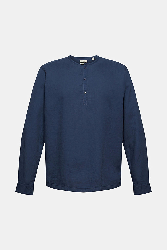 Shirt with Henley neckline, NAVY, detail image number 6