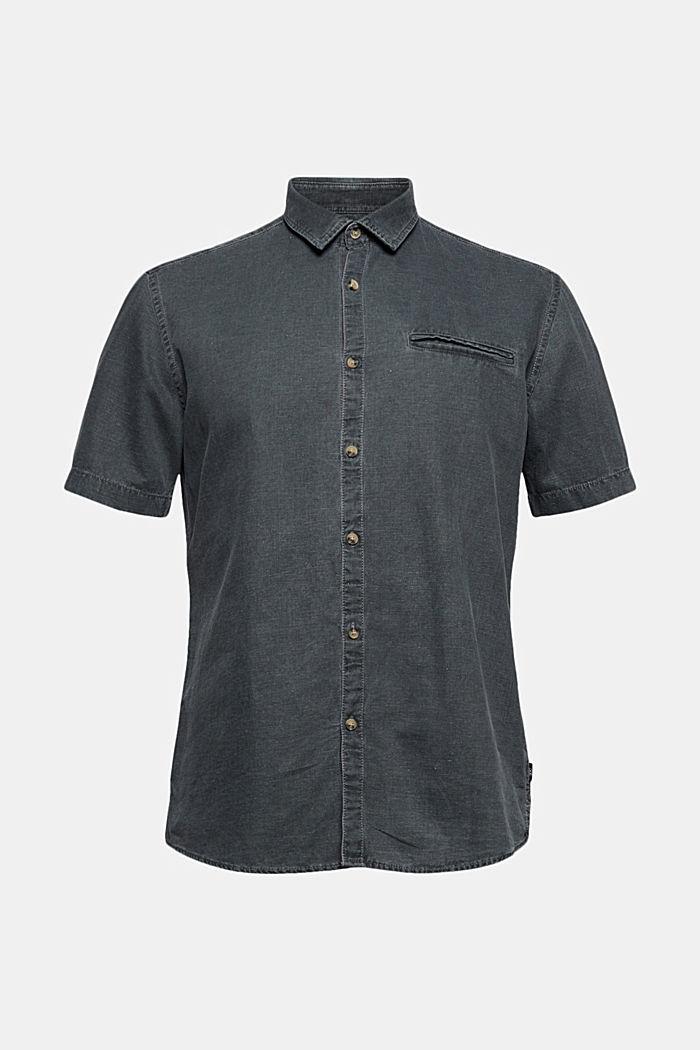 Med linneandel: Kortärmad skjorta