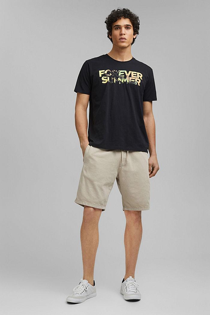 Printed T-shirt in 100% organic cotton, BLACK, detail image number 5