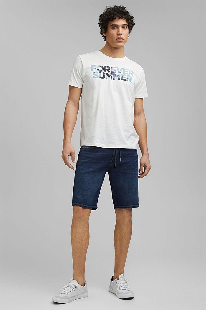Shirt met print, van 100% organic cotton, OFF WHITE, detail image number 5