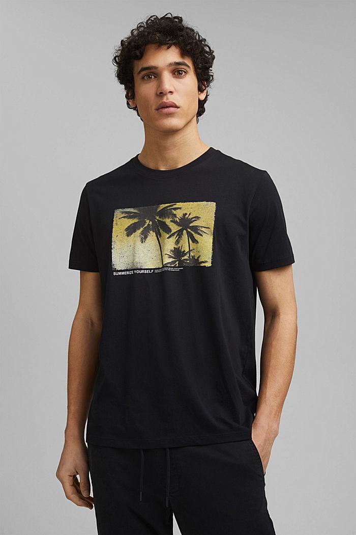 Potištěné tričko ze 100% bio bavlny, BLACK, detail image number 0