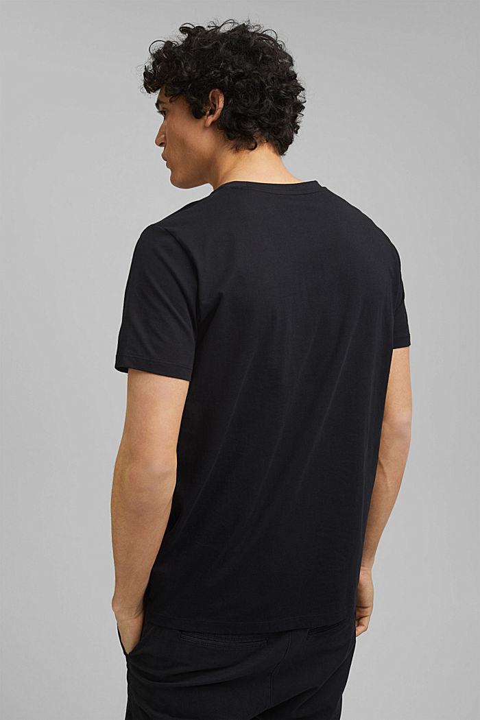 Potištěné tričko ze 100% bio bavlny, BLACK, detail image number 3